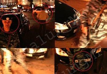 Mercedes, не включая мигалку, в сопровождении джипа охраны на большой скорости пересек две сплошные и, проехав на красный свет, протаранил едущий навстречу на зеленый автомобиль BMW. Фото с nr2.ru