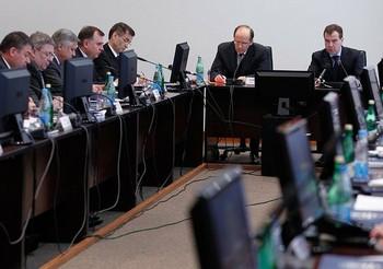 22 февраля Дмитрий Медведев провел заседание Национального антитеррористического комитета во Владикавказе. Фото: news.kremlin.ru