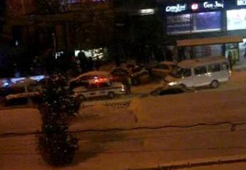 После взрыва 12 марта в Новосибирске на Красном проспекте 17. Кадр видеоролика очевидца