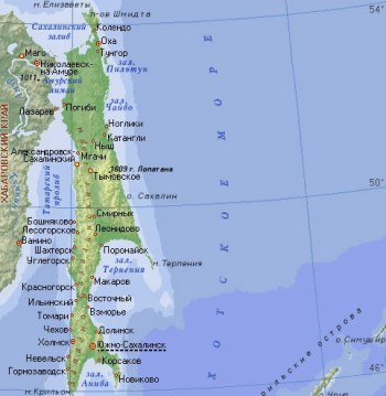 Карта острова Сахалин. Фото: ecolopro.ru