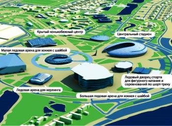 План расположения олимпиймких объектов в Сочи. Фото: yuga.ru
