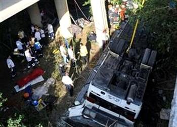 Авария автобуса с российскими туристами в Турции. Фото с svobodanews.ru