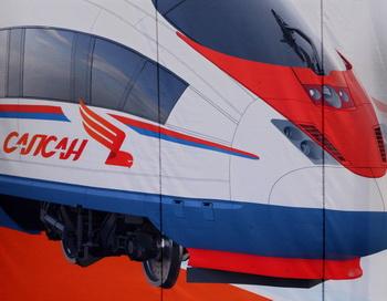Изображение поезда «Сапсан». Фото: КИРИЛЛ КУДРЯВЦЕВ /AFP /Getty Images