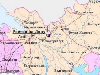 Шахты на карте с mojgorod.ru