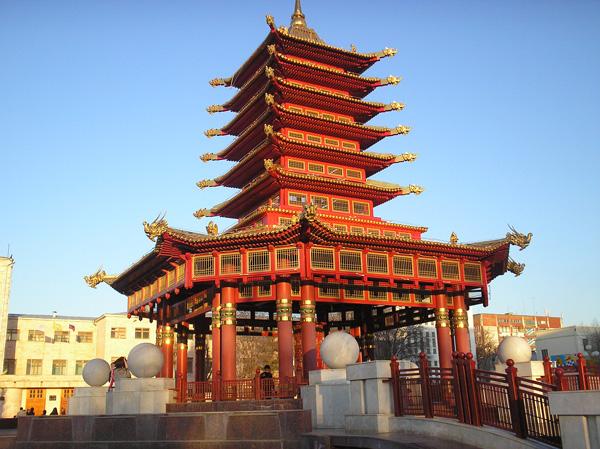 Комплекс «Пагода 7 дней», г.Элиста. Фото: Анатолий Белов/Великая Эпоха.