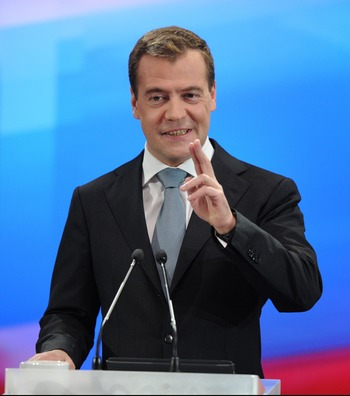 Президент Дмитрий Медведев в Сколково проводит расширенную пресс-конференцию. Фото: DMITRY KOSTYUKOV/AFP/Getty Images