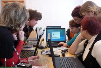 Московские  учителя получат  20 тысяч ноутбуков. Фото www.pedagog2010.lokos.ne