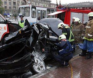 Крупная авария произошла сегодня в центре Москвы. Фото с kaliningradcity.ru