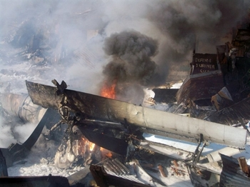 11 человек погибло при крушении АН-12 в Магадане. Фото: AFP PHOTO/Getty Images