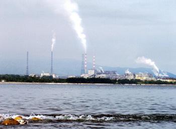 Инспекция ЮНЕСКО посетила Байкальский целлюлозно-бумажный комбинат. Фото:  STRINGER/AFP/Getty Images