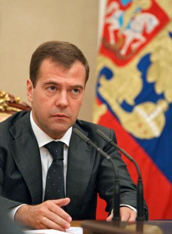 Президент Дмитрий Медведев сменил главу МВД Ингушетии. Фото: MIKHAIL KLIMENTYEV/AFP/Getty Images