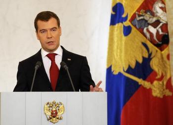Президент Дмитрий Медведев отправил в отставку генералов МВД. Фото: AFP/Getty Images