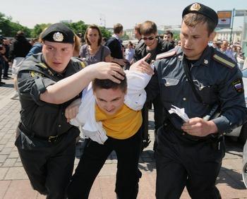 «День гнева» 12 июня  в Москве не состоялся. Фото: Фото: ALEXANDER NEMENOV/AFP/Getty Images