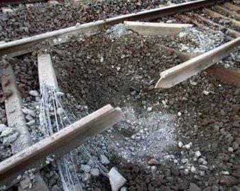 Взрыв на Новосибирской железной дороге. Фото с gudok.ru
