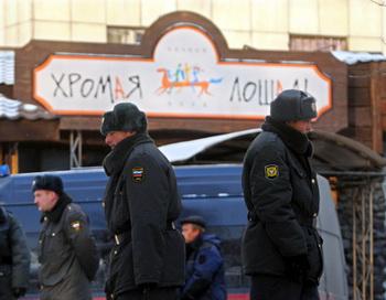 В Перми поминают погибших при пожаре в «Хромой лошади». Фото: DMITRY KOSTYUKOV/AFP/Getty Images