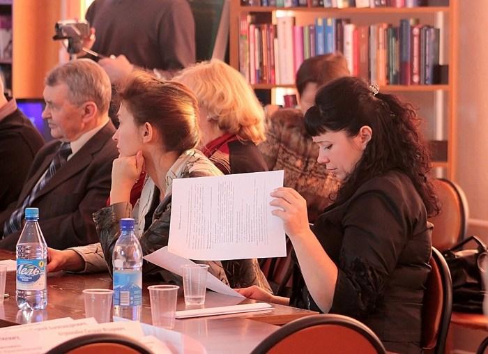 Географы за круглым столом. Фото: Сергей Кузнецов/Великая Эпоха (The Epoch Times)