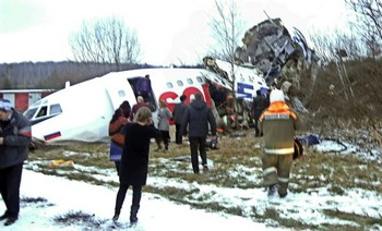 Авария самолета в «Домодедово». Фото: ANDREY SMIRNOV/AFP/Getty Images