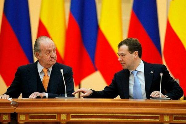 Король Испании Хуан Карлос прибыл в Россию. Дмитрий Медведев и король Испании Хуан Карлос I. Фото с сайта kremlin.ru