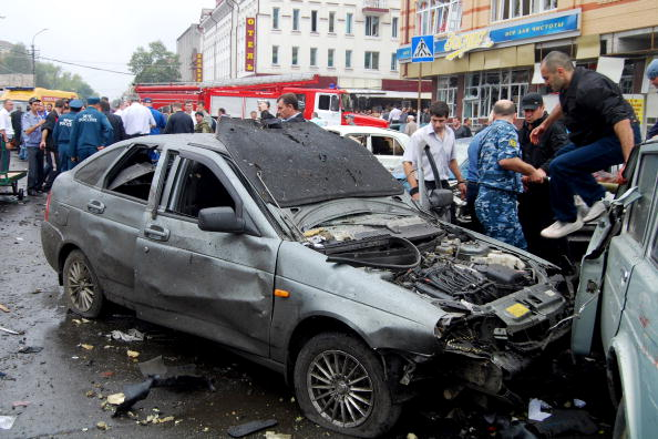 Теракт на центральном рынке во Владикавказе унес жизни 16 человек, пострадали 99. Фоторепортаж. Фото: STR/AFP/Getty Images