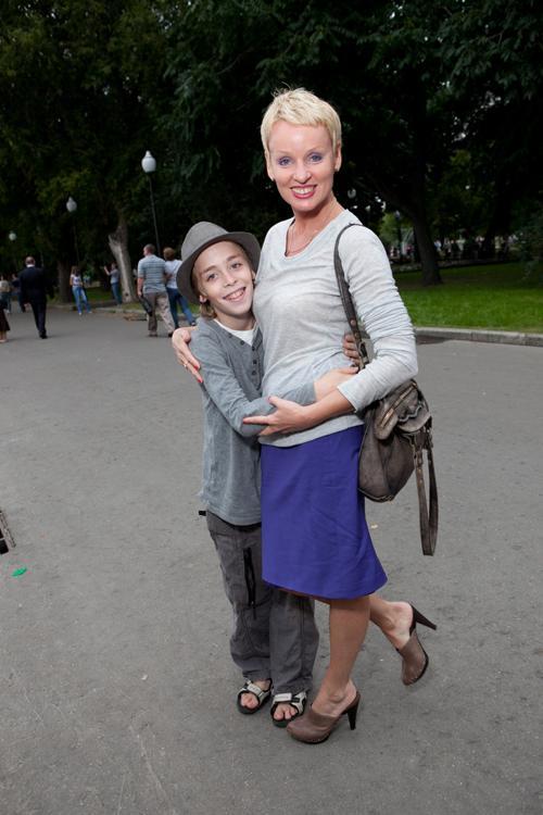 Жанна Эппле с сыном. Фото предоставлено Натальей Гордеевой