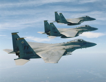 Истребители F-15. Фото:  Stocktrek/Getty Images
