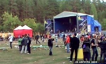 Милиционеры, не обеспечившие охрану рок-фестиваля Торнадо, будут заключены под стражу. Фото с сайта lenta.ru