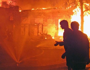 Взрыв на баксанской ГЭС. Фото с сайта finam.fm