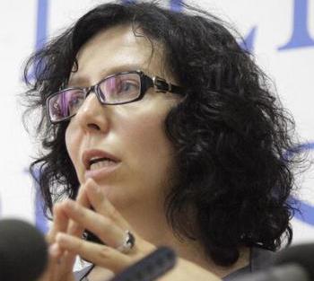Адвокат, защищающая организаторов  «Запретное искусство»  Анна Ставицкая. Фото: OXANA ONIPKO/AFP/Getty Images
