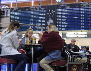 Бык в Шереметьево стал причиной задержки рейсов. Фото: ALEXANDER NEMENOV/AFP/Getty Images