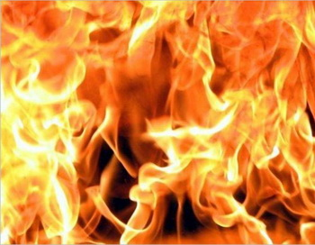 Пожар в Дагестанском селе Анчих. Фото с сайта stolitsa.ee
