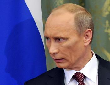 Школу №1060 в Москве посетил Владимир Путин. Фото: SERGEI SUPINSKY/AFP/Getty Images