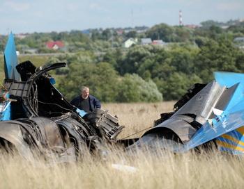 В Хабаровском крае упал Су-27. Фото: Дмитрия KOSTYUKOVA/AFP/Getty Images