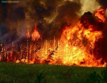 В Каменке Владимирской области вспыхнул  пожар. Фото с сайта fotki.yandex.ru