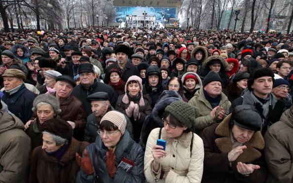 Митинг против ксенофобии прошел на Пушкинской площади в Москве. Фоторепортаж.  Фото: ANDREY SMIRNOV/AFP/Getty Images