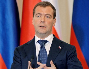 Дмитрий Медведев отреагировал на видеообращение Рогозы. Фото: JANEK SKARZYNSKI/AFP/Getty Images