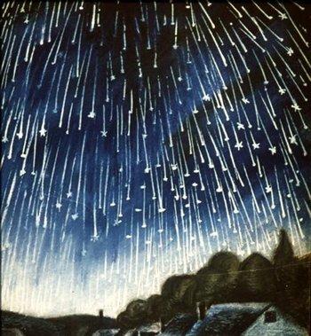 Звездопад на Новый год москвичи увидят в полночь. Фото с сайта astro.uni-altai.ru