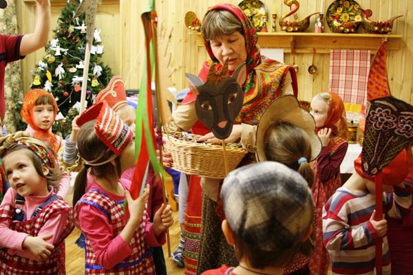 Детские колядки в московском детсаду. Фото: Ульяна Ким/Великая Эпоха/The Epoch Times