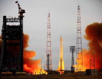 С космодрома Байконур стартовал российский корабль «Прогресс». Фото: AFP/Getty Images