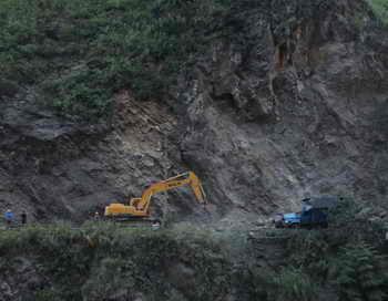 Мощный камнепад перекрыл Транскавказскую магистраль. Фото: AFP/GettyImages