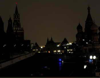 Москва. Международная акция «Час Земли». Фото: ANDREY SMIRNOV/AFP/Getty Images