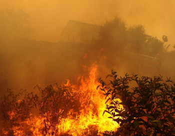 Пожар, Дагестан. Фото: STEPHAN AGOSTINI/AFP/Getty Images