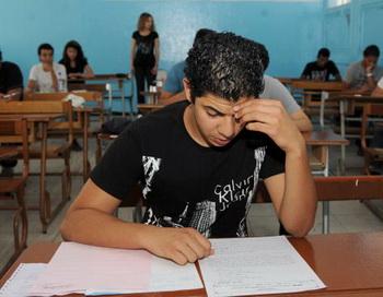 На экзамене. Фото: FETHI BELAID/AFP/Getty Images