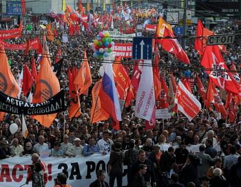 «Марш миллионов», Москва. 6 мая. Фото: ANDREY SMIRNOV/AFP/GettyImages