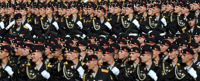Парад Победы на Красной площади в Москве. Фото: YURI KADOBNOV/AFP/Getty Images