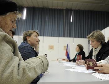 На избирательном участке. Фото: DAVID BUIMOVITCH/AFP/Getty Images