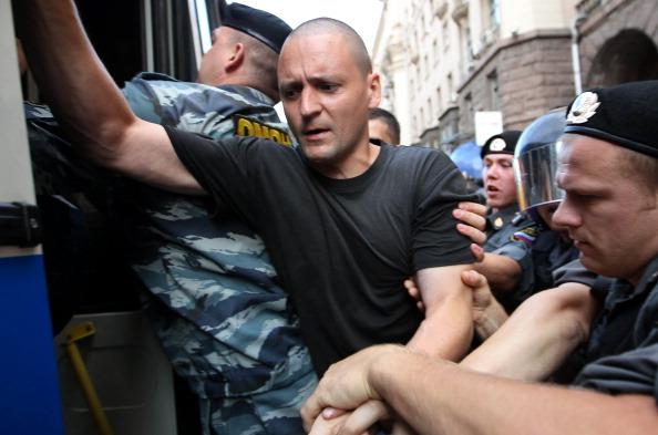 Участники акции  «Стратегия 31» отпущены из полиции. Фото:Alexey SAZONOV/AFP/Getty Images