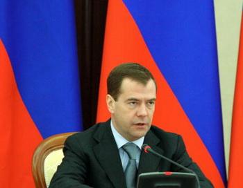 Россия не должна больше строить госкапитализм. Об этом во время экономического форума в Санкт-Петербурге заявил президент Дмитрий Медведев. Фот: Milkhail KLIMENTYEV /Getty Images
