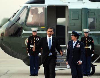 Прибытие Барака Обамы в Прагу. Фото: JEWEL SAMAD/AFP/Getty Images