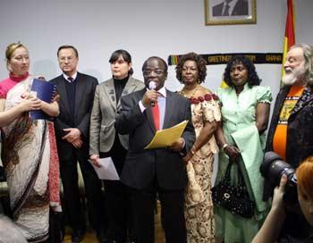 В посольстве Республики Гана в России состоялся   вечер Дружбы «Пушкин в Африке».  Фото: Ульяна Ким/Великая Эпоха/The Epoch Times