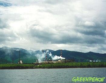 Байкальский целлюлозно-бумажный комбинат построен на берегу Байкала в конце 1960-х годов. Загрязняет своими стоками воды Байкала, включенного в список Всемирного природного наследия ЮНЕСКО. Фото с сайта flickr.com
